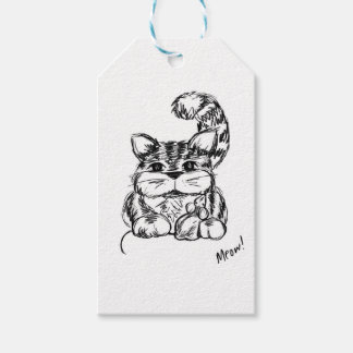 Unlikely Friends Cat and Mouse Pack Of Gift Tags