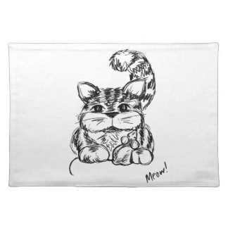 Unlikely Friends Cat and Mouse Placemat