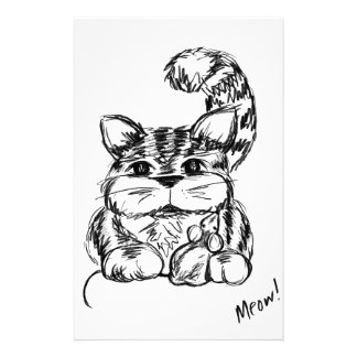 Unlikely Friends Cat and Mouse Stationery
