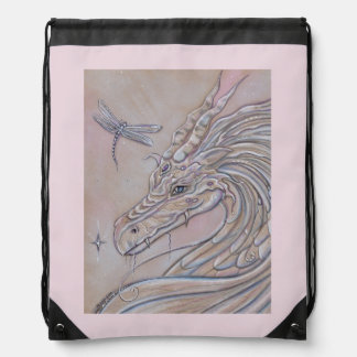 Unlikely friends dragon and dragonfly backpack