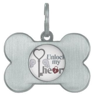 Unlock Heart Pet Tag