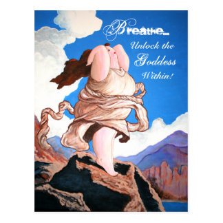 """Unlock the Goddess Within"" postcards"