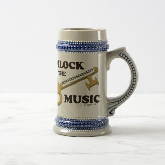 Unlock The Music Beer Stein