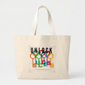 UNLOCK! Your Keys Canvas Large Tote Bag