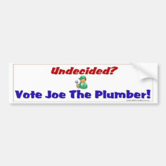 UnNdecided? Bumper Sticker