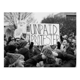 Unpaid Protester Postcard