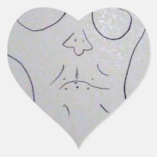 Unphoto Unrealism of Sartre Dominico  Caveman Heart Sticker