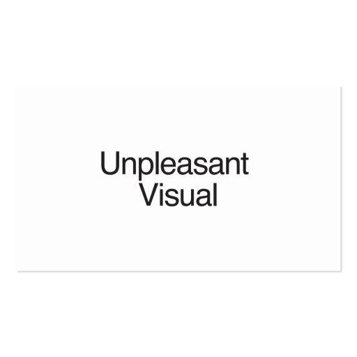 Unpleasant Visual Business Card