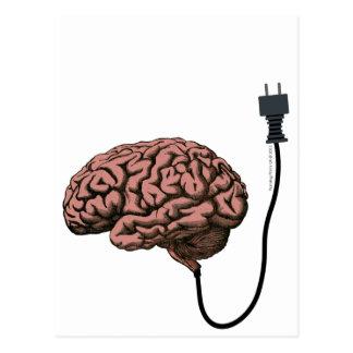 Unplugged Brain Steampunk Curiosity Anatomy Postcard