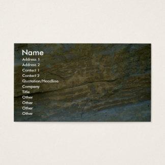 Unpolished granite stone business card