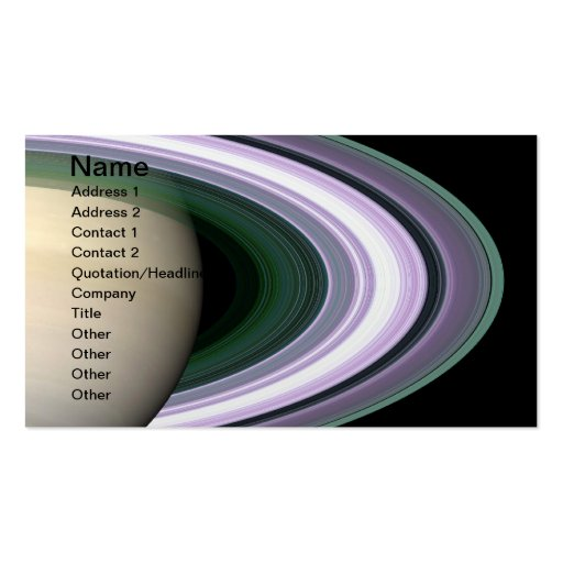 Unraveling Saturn's Rings Business Card