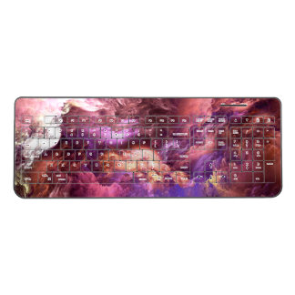Unreal Purple Clouds Wireless Keyboard