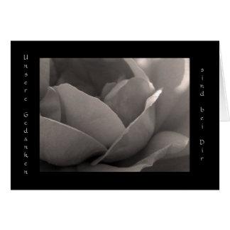Unsere Gedanken sind bei Dir - Grusskarte Rose Card