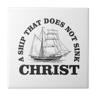 unsinkable christ ceramic tile