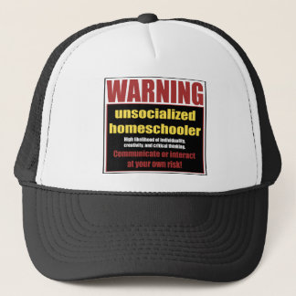 unsocialized homeschooler trucker hat
