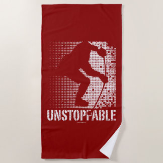 Unstoppable (hockey) beach towel