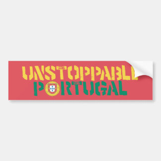 Unstoppable Portugal Futbol Soccer Bumper Sticker