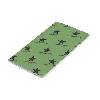 UnstoppableOne Star Pocket Journal - 48 pg green