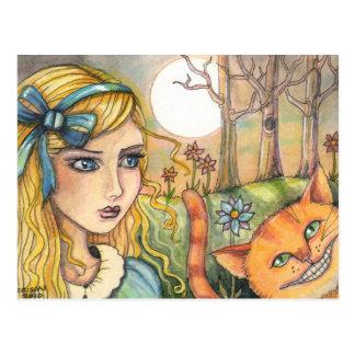 Unsure Alice in Wonderland Postcard