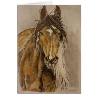 """""""Untamed"""" wild mustang mare Greeting Card"""