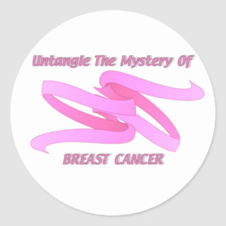 UNTANGLE THE MYSTERY OF BREAST CANCER CLASSIC ROUND STICKER