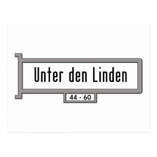 Unter den Linden, Berlin Street Sign Postcard