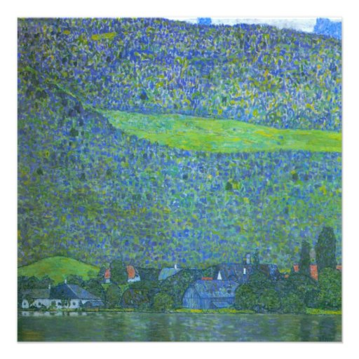 Unterach at Attersee by Klimt, Vintage Art Nouveau Custom Invites