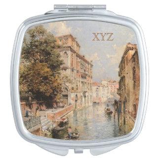 Unterberger's Venice custom monogram pocket mirror Mirrors For Makeup