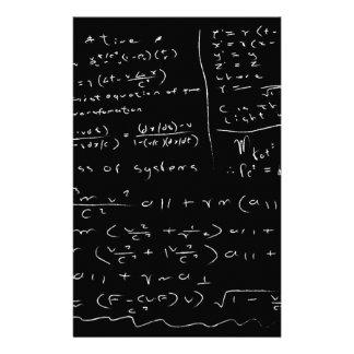 Untidy Chalk Board Stationery
