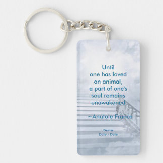 Until Pet Memorial Necklace Double-Sided Rectangular Acrylic Keychain