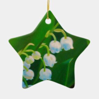 Untitled Lily of the Valley Ceramic Star Ornament