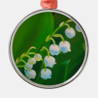Untitled Lily of the Valley Silver-Colored Round Ornament