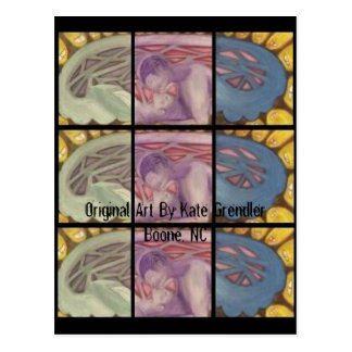 Untitled, Original Art By Kate GrendlerBoone, NC Postcard