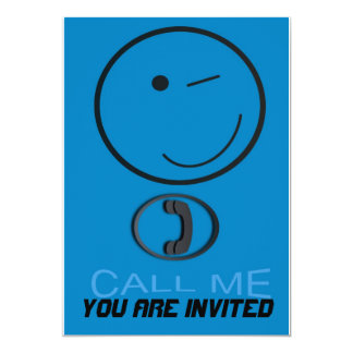 """Untitled, you ploughs invited 5"""" x 7"""" invitation card"""