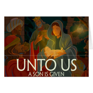 Unto Us a Son Card