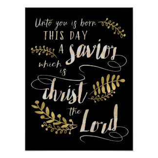 Unto You is Born This Day A Savior Art Poster