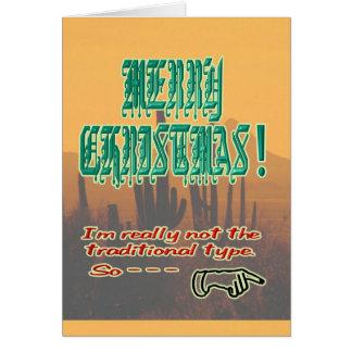 Untraditional Christmas Card humor Christmas card