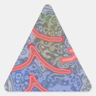 unusual and strange pattern triangle sticker
