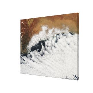 Unusual cloud formations stretched canvas print