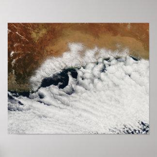 Unusual cloud formations print