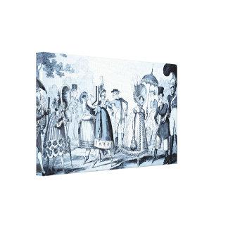 """Unusual Fashions"" (selenium tone) canvas print"