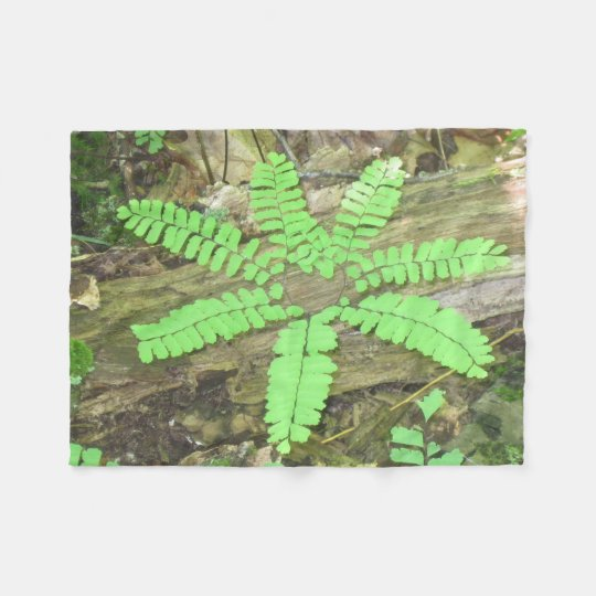 Unusual Forest Fern Fleece Blanket