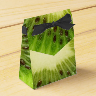 Unusual Fresh Green Kiwi Fruit Party Favor Boxes