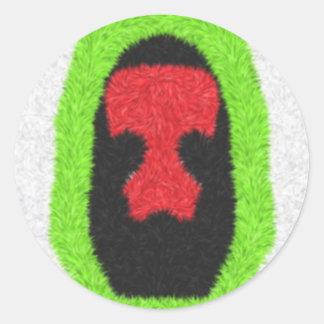 Unusual pattern round sticker