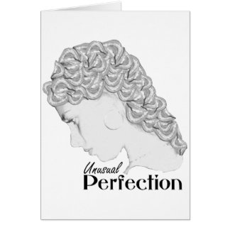 Unusual Perfection Blank Greetings Card