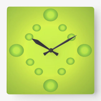 Unusual Pop Art Lime Suns Clock Green 4