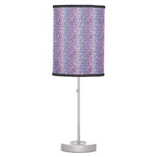 Unusual Purple Designer Bedroom Lighting Fixture Table Lamp