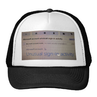 Unusual Sign in Activity Trucker Hat