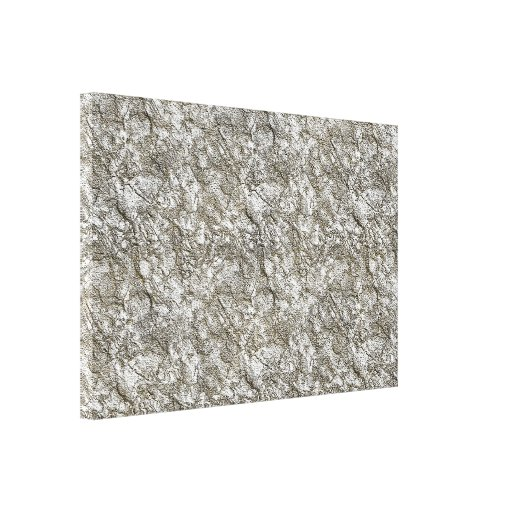 UNUSUAL SILVER LIGHT WHITE GREY GRAY TEXTURED BACK CANVAS PRINT