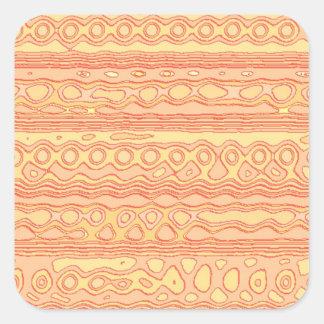 Unusual strange pattern square sticker